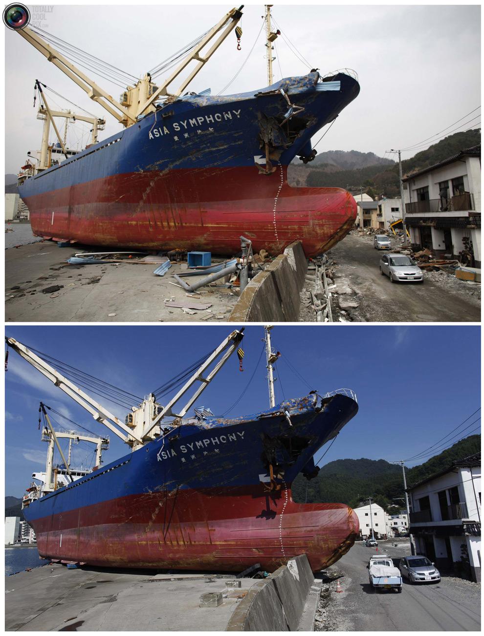 photo019 Bencana alam di Jepang segera setelah dampak dari unsur-unsur dan 6 bulan kemudian