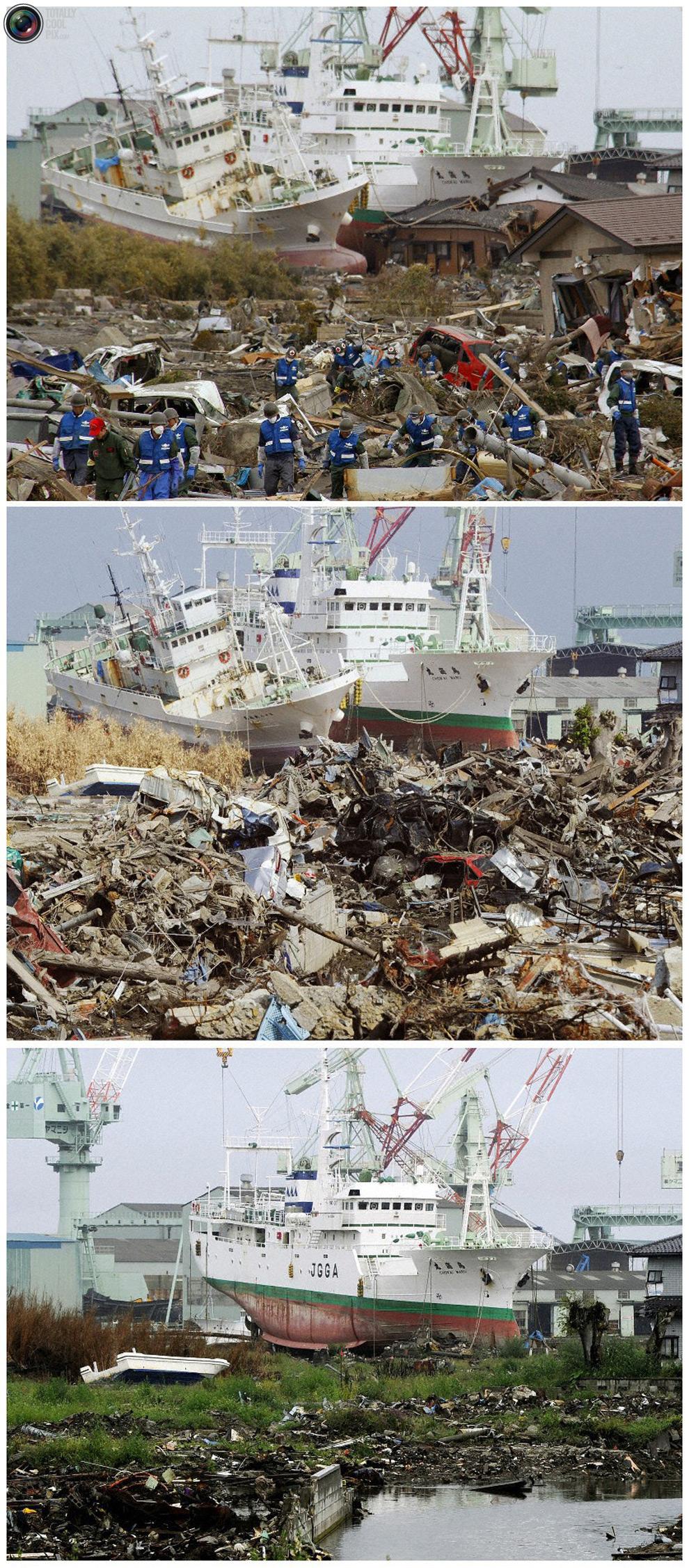 photo028 Bencana alam di Jepang segera setelah dampak dari unsur-unsur dan 6 bulan kemudian