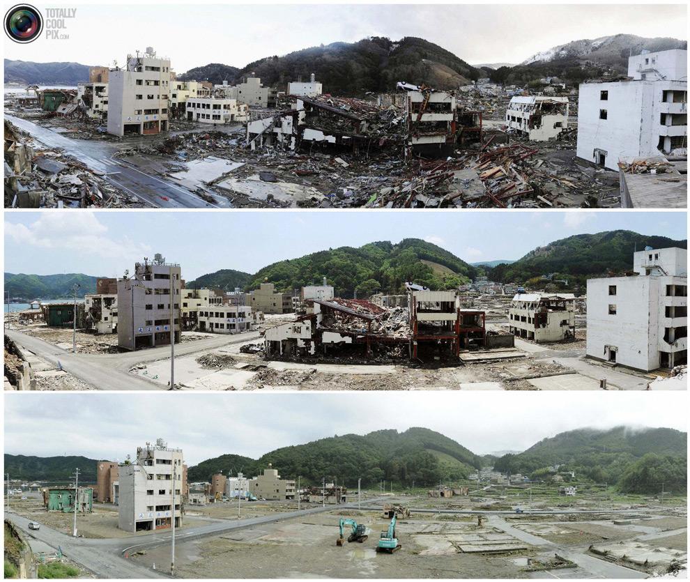 photo038 Bencana alam di Jepang segera setelah dampak dari unsur-unsur dan 6 bulan kemudian