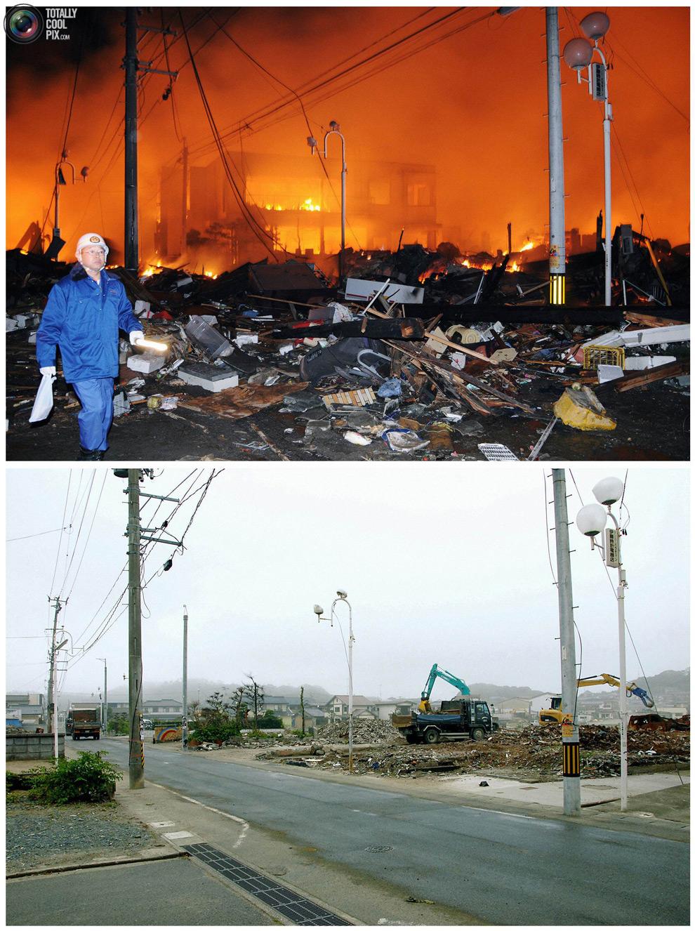 photo058 Bencana alam di Jepang segera setelah dampak dari unsur-unsur dan 6 bulan kemudian
