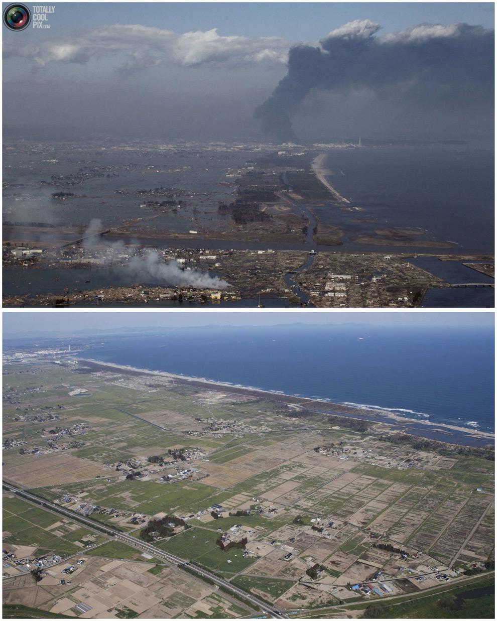 photo108 Bencana alam di Jepang segera setelah dampak dari unsur-unsur dan 6 bulan kemudian