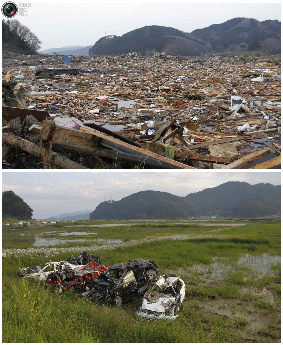 photo117 Bencana alam di Jepang segera setelah dampak dari unsur-unsur dan 6 bulan kemudian