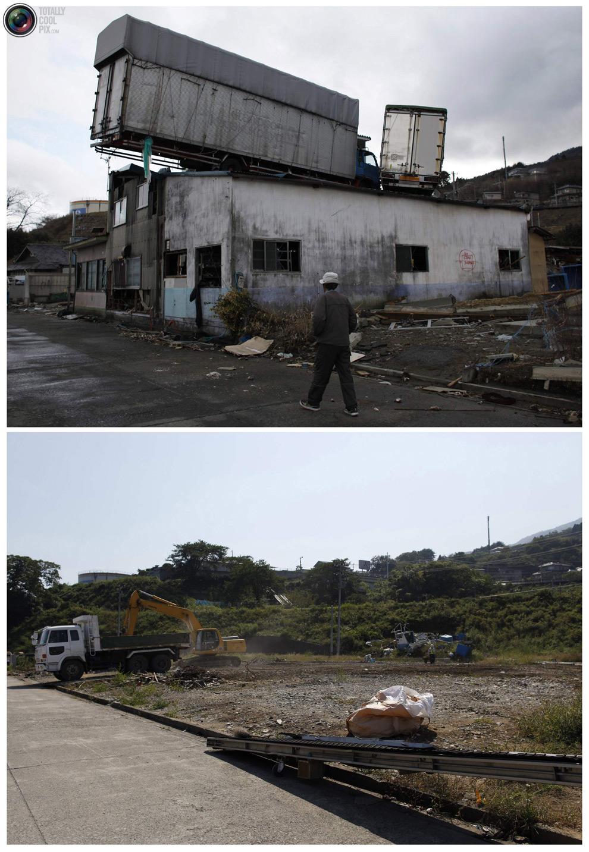 photo135 Bencana alam di Jepang segera setelah dampak dari unsur-unsur dan 6 bulan kemudian