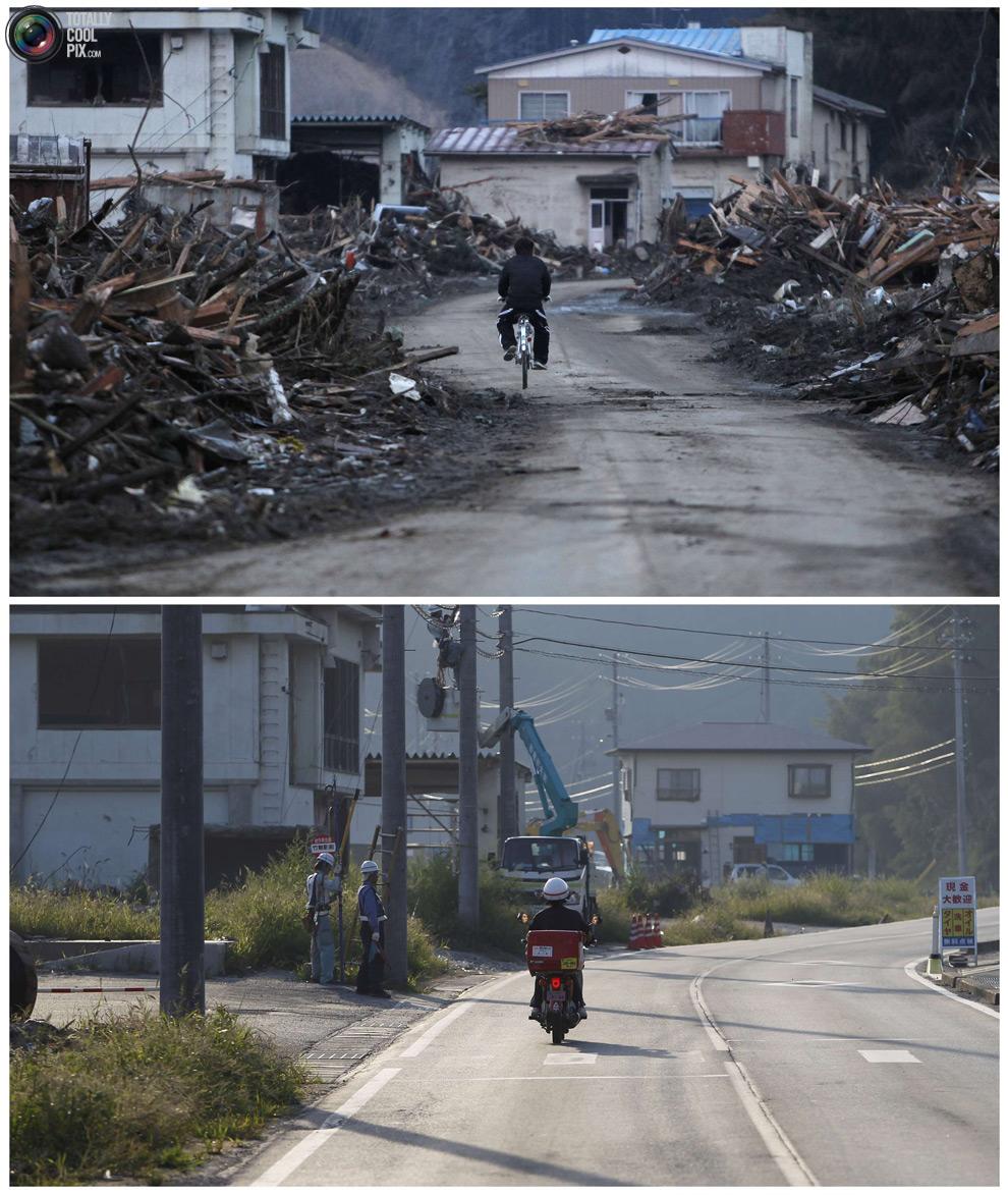 photo171 Bencana alam di Jepang segera setelah dampak dari unsur-unsur dan 6 bulan kemudian