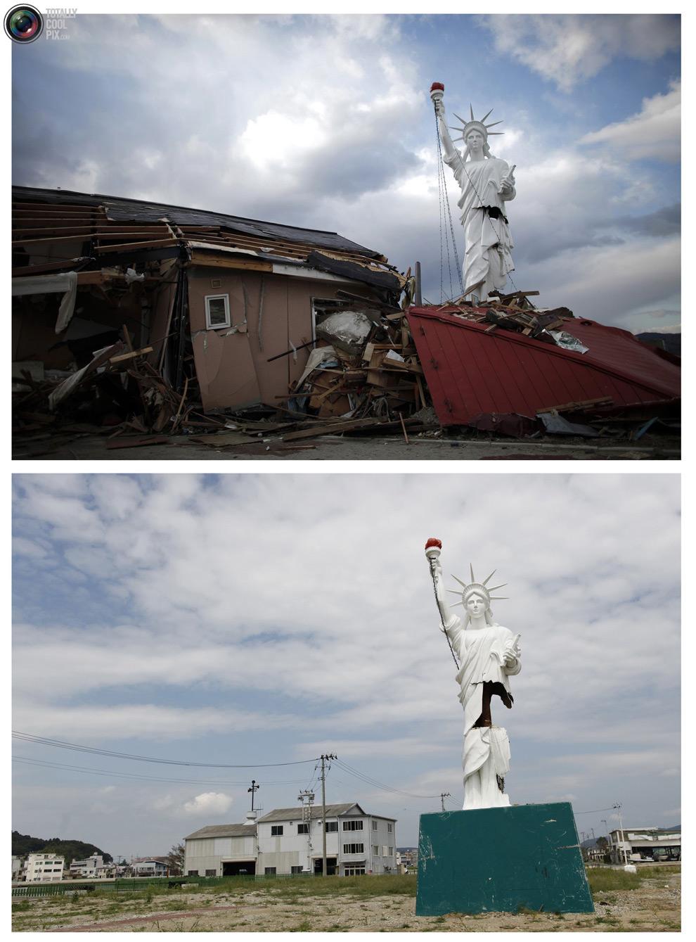 photo221 Bencana alam di Jepang segera setelah dampak dari unsur-unsur dan 6 bulan kemudian
