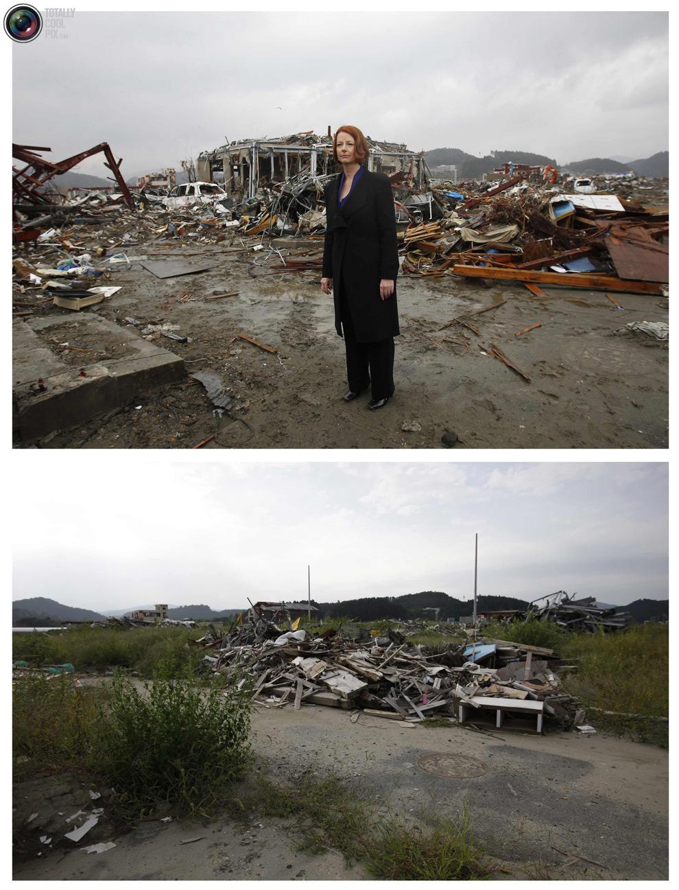 photo23 bencana alam di Jepang segera setelah dampak dari unsur-unsur dan 6 bulan kemudian