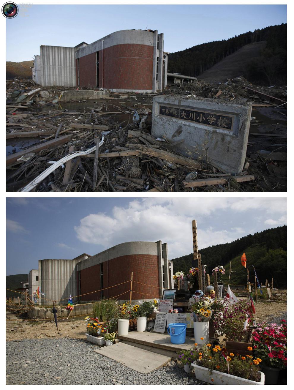 photo24 Bencana alam di Jepang segera setelah dampak dari unsur-unsur dan 6 bulan kemudian