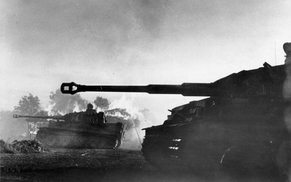 """war39 Вторая мировая война: Восточный фронт. """"Тигры"""" во время Курской битвы, середина июля 1943 года, южнее Орла."""