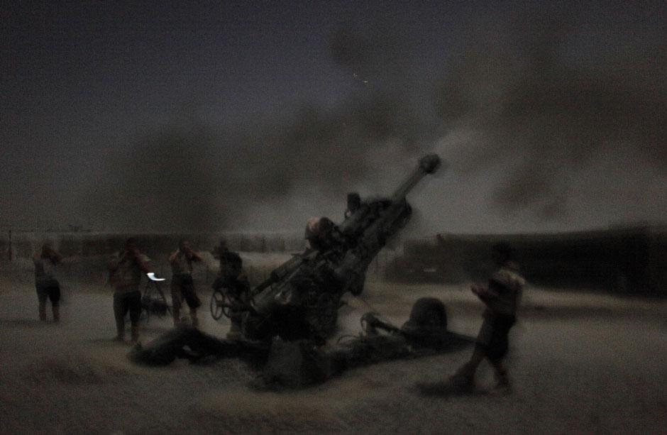 Так же по ночам работает и артиллерия