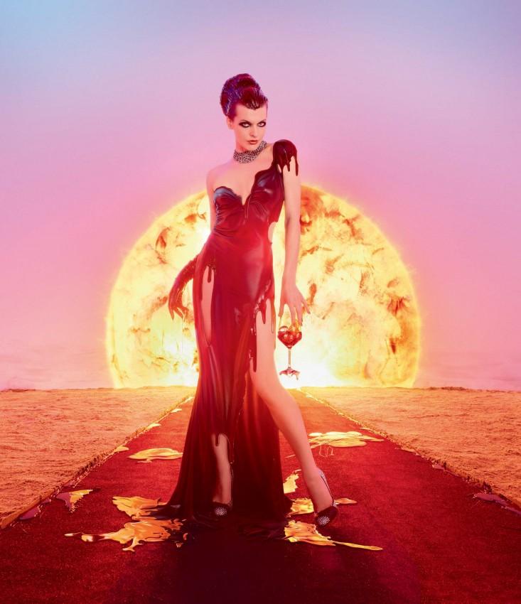 485 968 7 Milla Jovovich protagonizó para el calendario apocalíptico