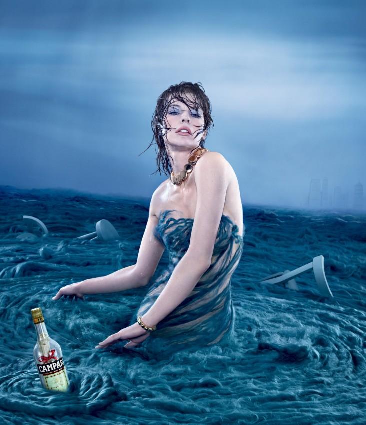 521 808 7 Milla Jovovich protagonizó para el calendario apocalíptico