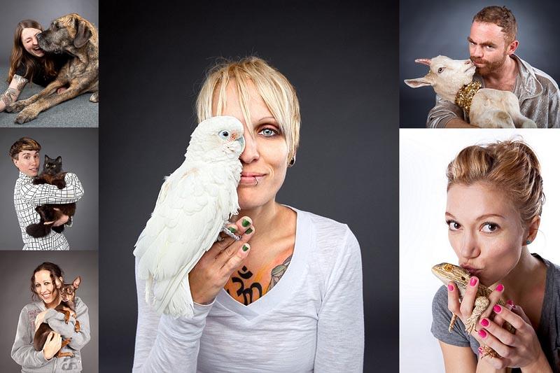 Фотопортреты Карли Девидсон: домашние питомцы и их хозяева