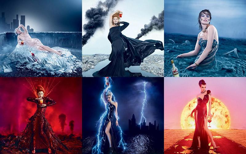 BIGPIC136 Milla Jovovich protagonizó para el calendario apocalíptico
