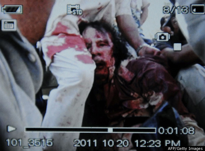 Kaddafi ubit 2 Муаммар Каддафи мертв
