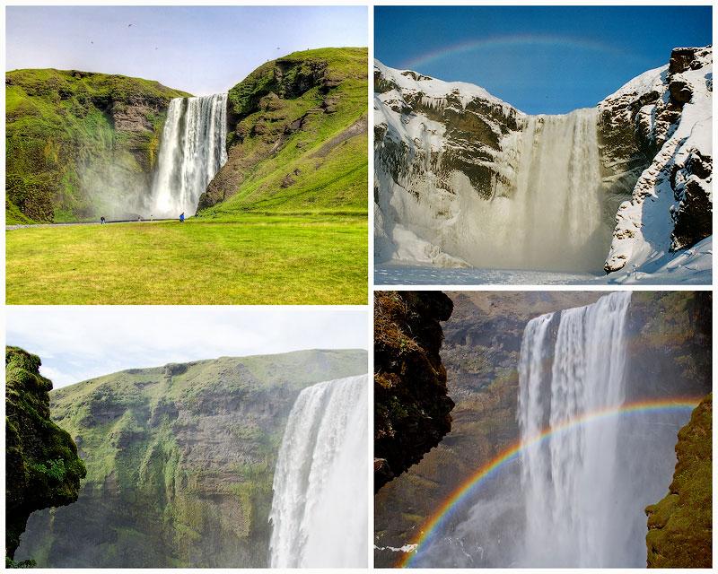 TEMP Скогафосc   самый знаменитый водопад Исландии