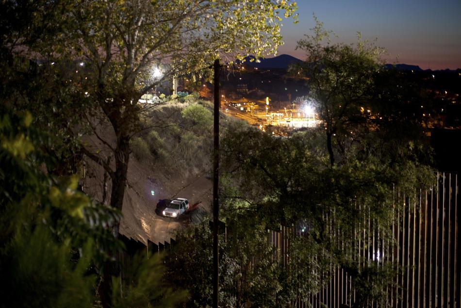 Hari kerja border02 AS-Meksiko perbatasan