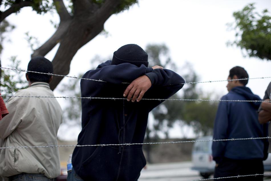 Hari kerja border07 AS-Meksiko perbatasan