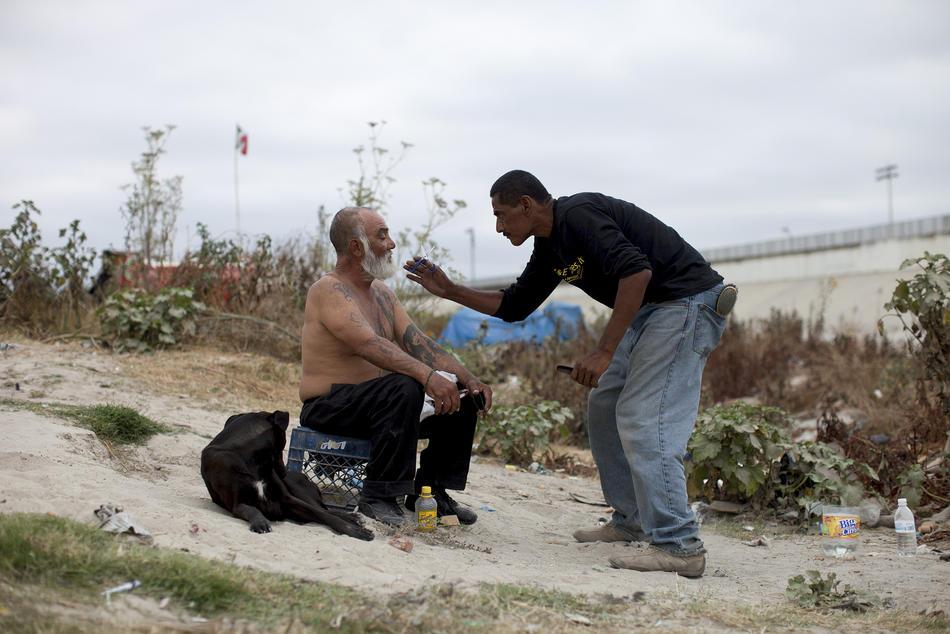 Hari kerja border08 AS-Meksiko perbatasan