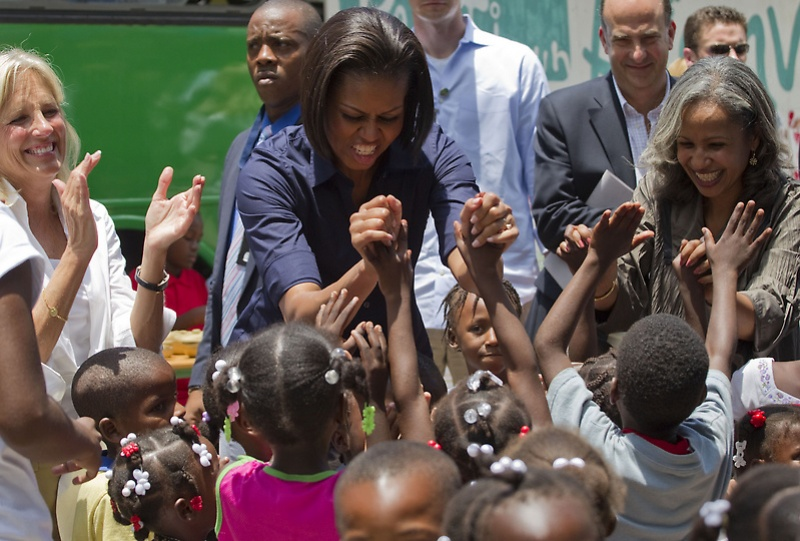 mrsobama11 Michelle Obama di supermarket dan tidak hanya