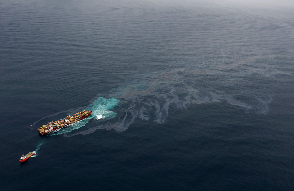 s N01 10.130.414 tumpahan minyak di lepas pantai Selandia Baru