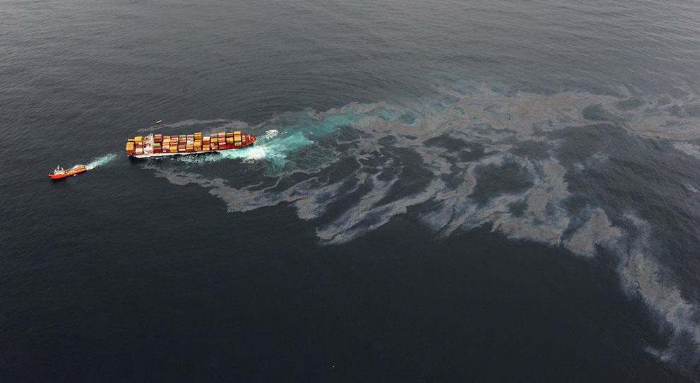 s N11 29.092.323 tumpahan minyak di lepas pantai Selandia Baru