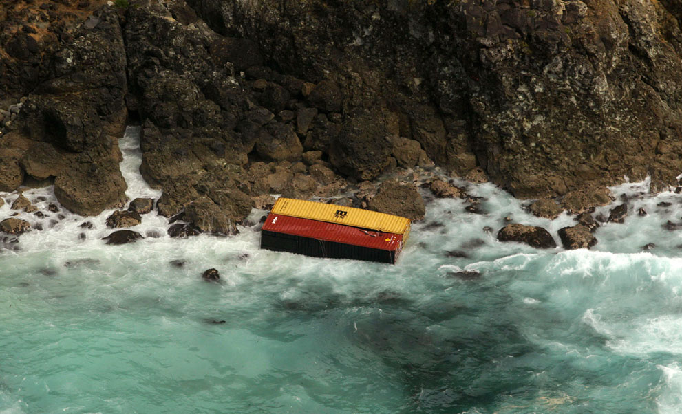 s N14 01.201.563 tumpahan minyak di lepas pantai Selandia Baru