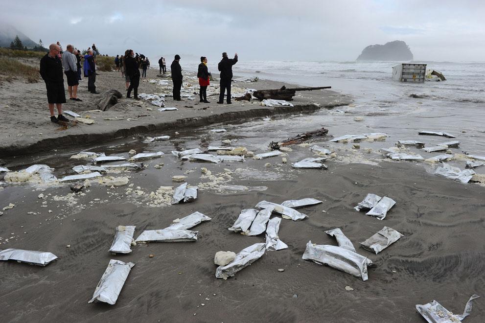 s N16 29.092.678 tumpahan minyak di lepas pantai Selandia Baru