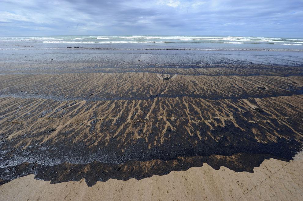s n18 29.108.094 tumpahan minyak di lepas pantai Selandia Baru