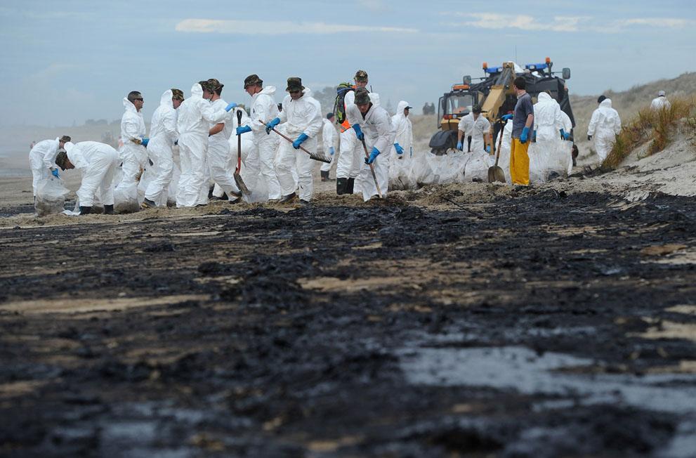s N21 29.110.994 tumpahan minyak di lepas pantai Selandia Baru