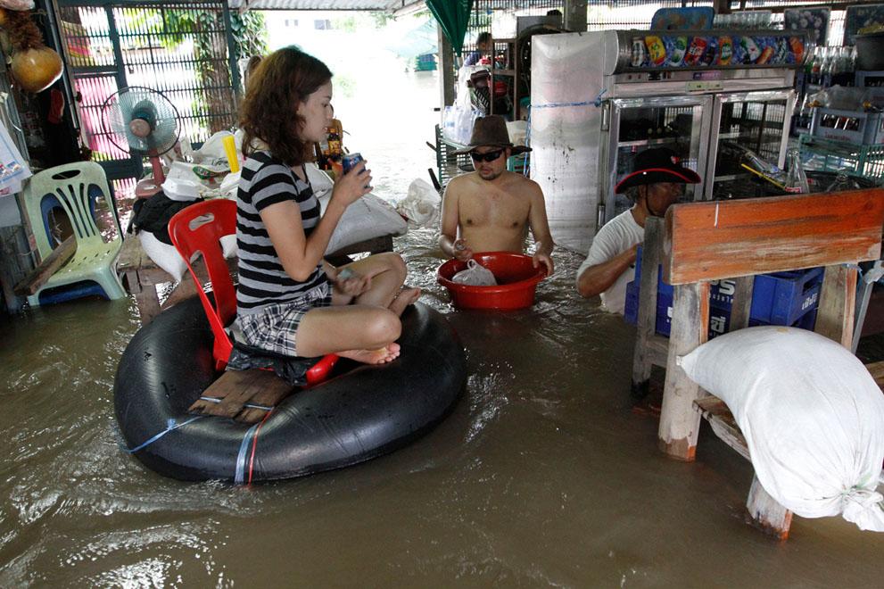 Fuertes inundaciones en Tailandia