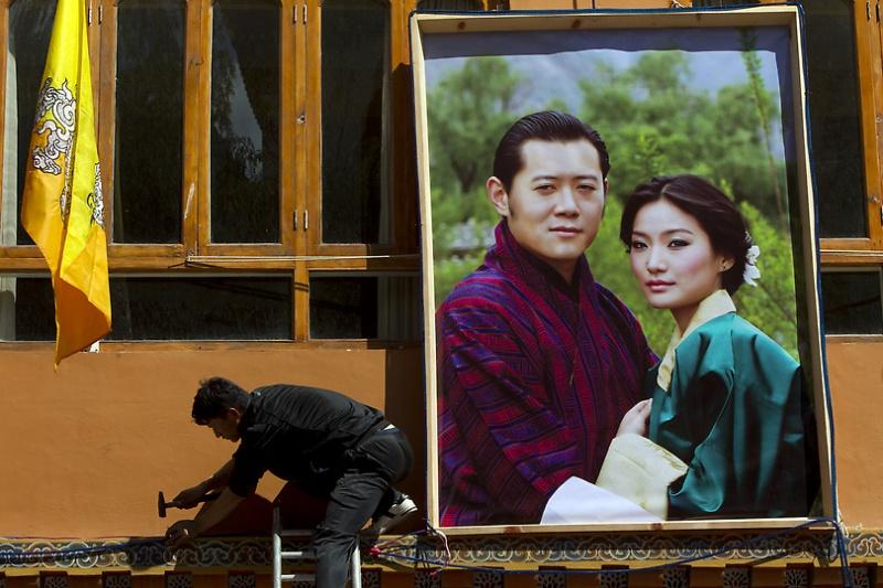 свадьба короля бутана фото получением