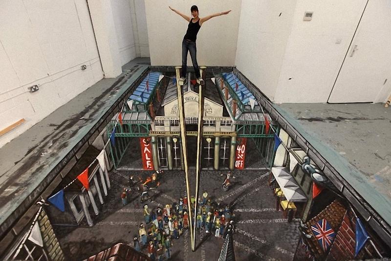 00813 Самый большой 3D   рисунок в мире