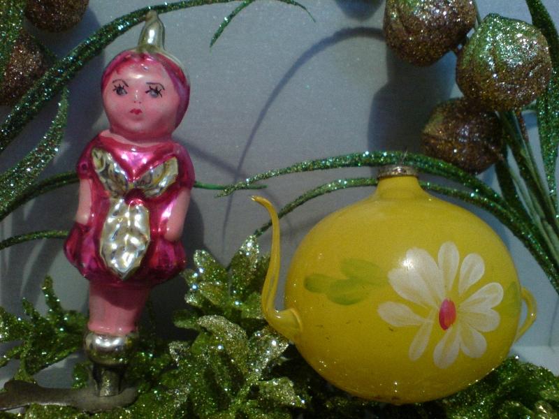 01214 Старинные елочные игрушки