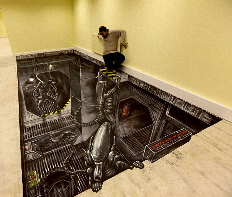 01411 Самый большой 3D   рисунок в мире