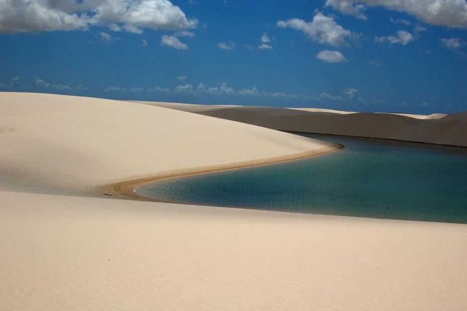 0lBRK000 Простыни Мараньяна: Белые пески Lencois Maranhenses Бразилии