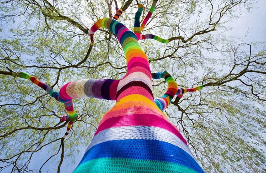 11020 Urban knitting   Шерстяной стритарт