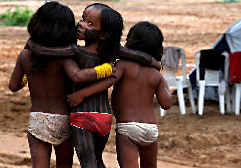 Подростки Натуристы Из Племен