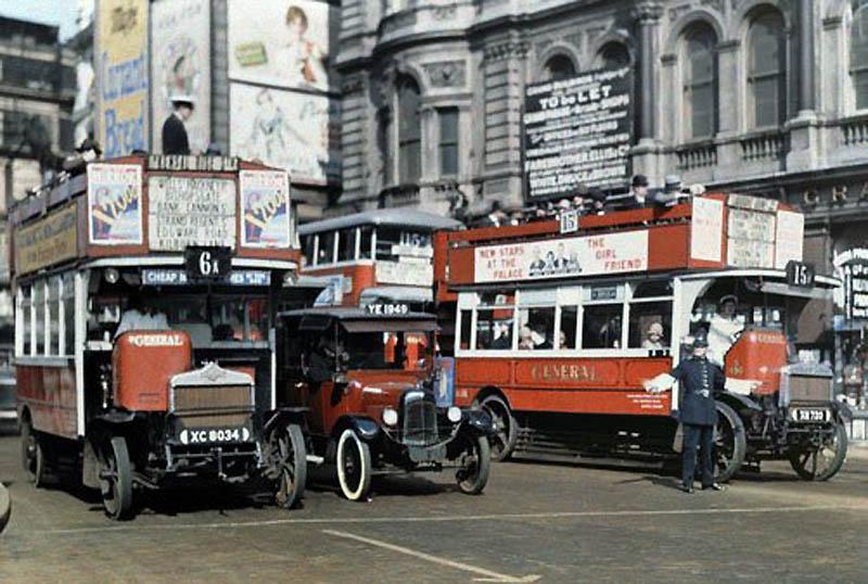 1176 Англия на цветных фото 1928 года