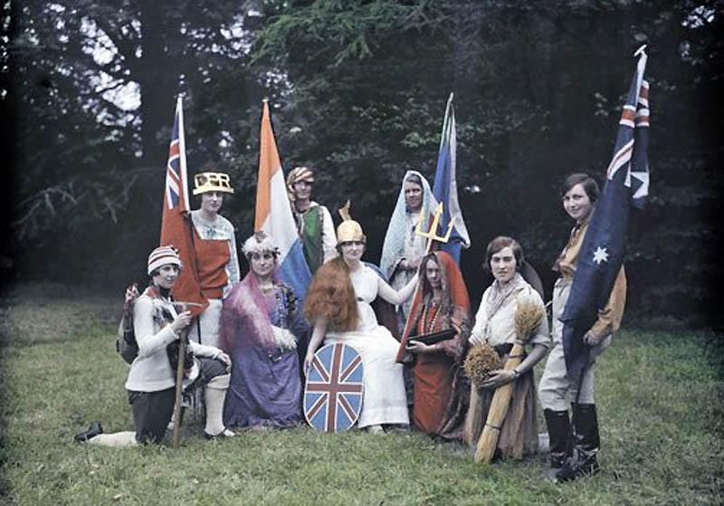 1177 Англия на цветных фото 1928 года