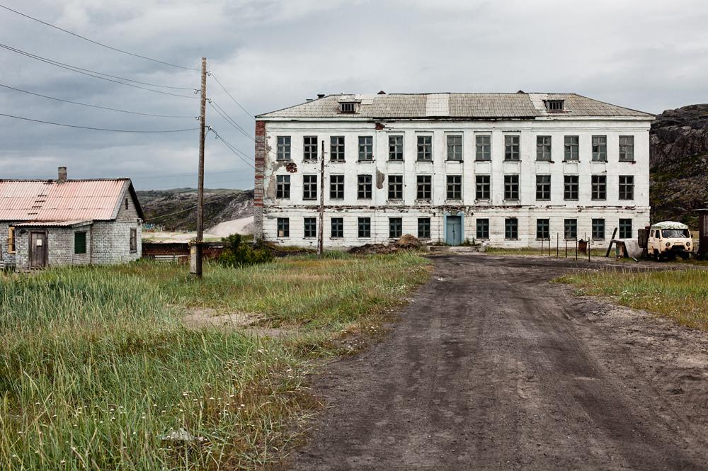 1207 Заброшенная школа на Кольском полуострове