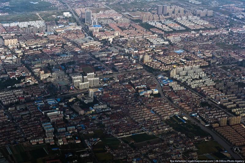 Китай, вид из окна самолета