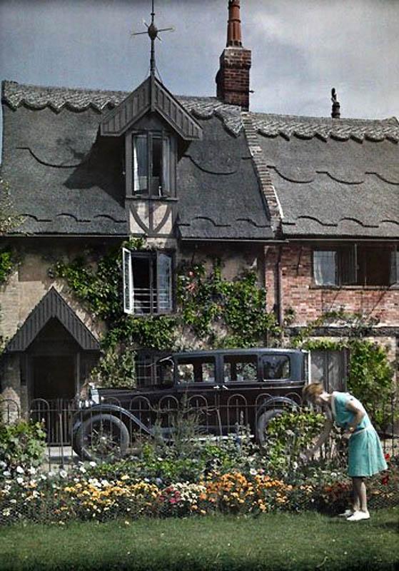 1638 Англия на цветных фото 1928 года