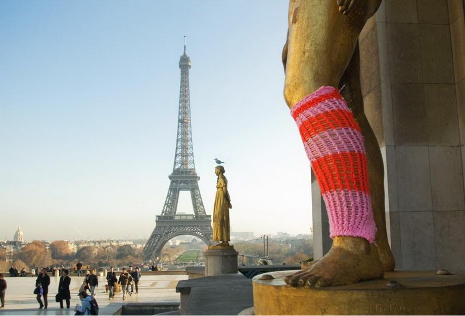 18118 Urban knitting   Шерстяной стритарт
