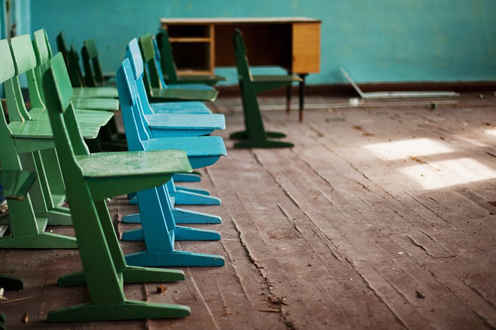 2235 Заброшенная школа на Кольском полуострове