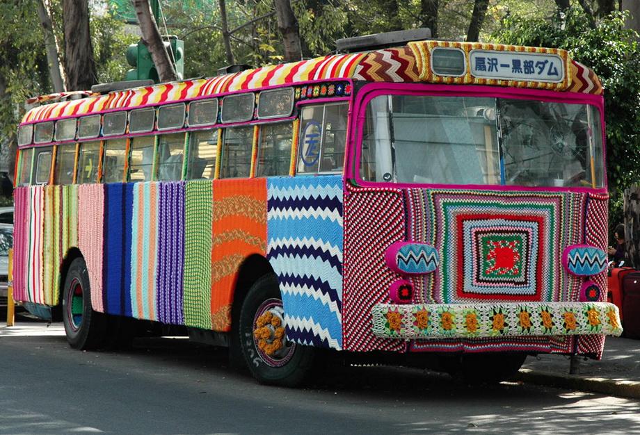 2486 Urban knitting   Шерстяной стритарт