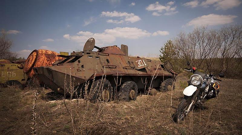 2833 Два дня на мотоцикле в чернобыльской зоне