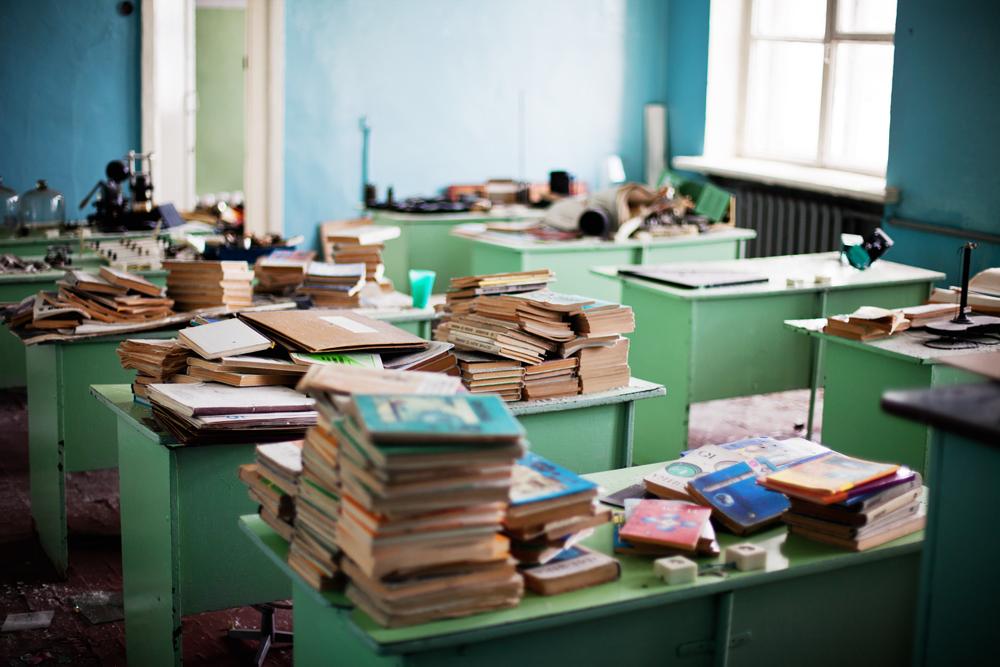 3026 Заброшенная школа на Кольском полуострове