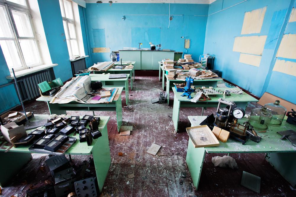 3225 Заброшенная школа на Кольском полуострове
