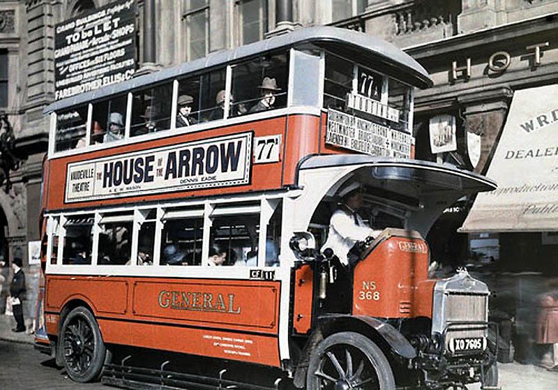 4102 Англия на цветных фото 1928 года