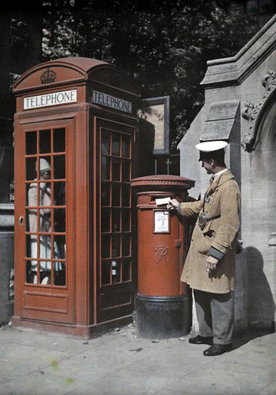 586 Англия на цветных фото 1928 года